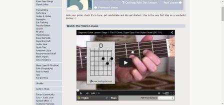 justin free guitar lessons beginner