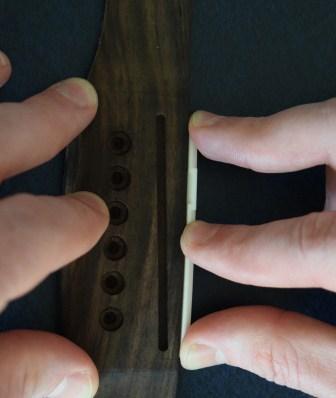 sanding guitar saddle