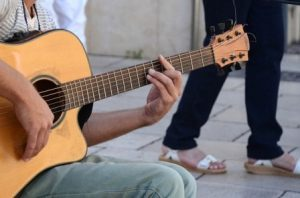 trying a guitar in person