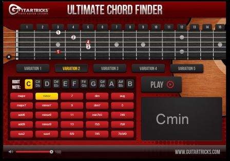 Guitar tricks chord finder