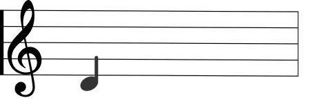 treble clef D note