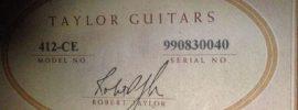 Taylor Guitar serial numbers