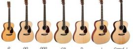 Martin Guitars by Shape