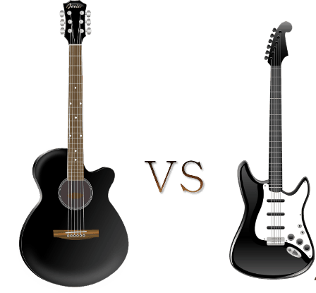acoustic or electric guitar which should you start learning on. Black Bedroom Furniture Sets. Home Design Ideas